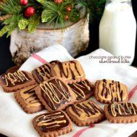 Chocolate Peanut Butter Shortbread Bites