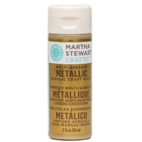 Martha Stewart Crafts Metallic Acrylic Craft Paint inGold