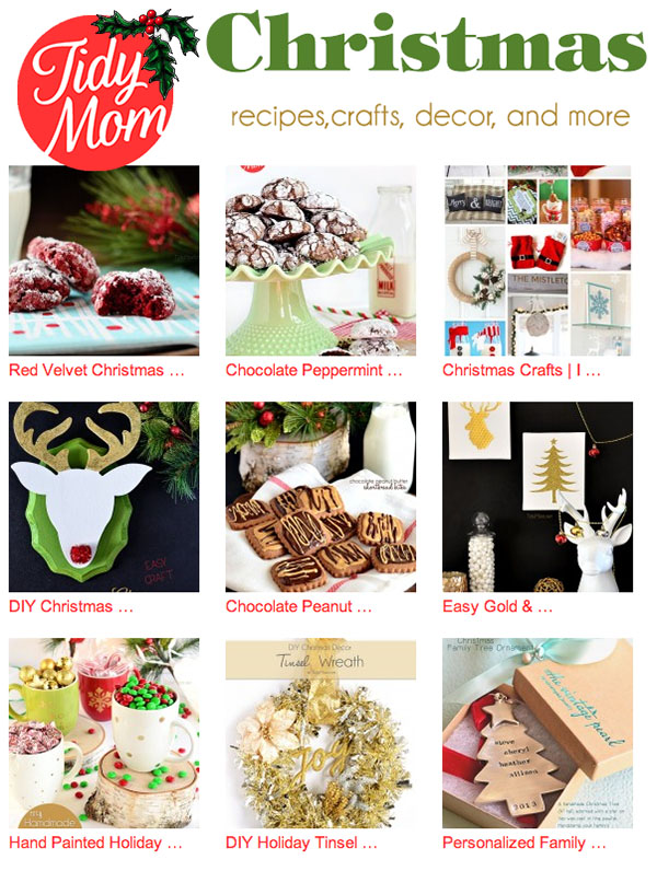 #Christmas recipes,crafts, decor, printables and more at TidyMom.net