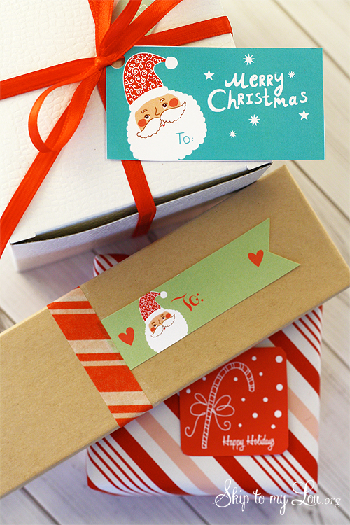 Free printable Christmas Gift Tags from Skip to My Lou