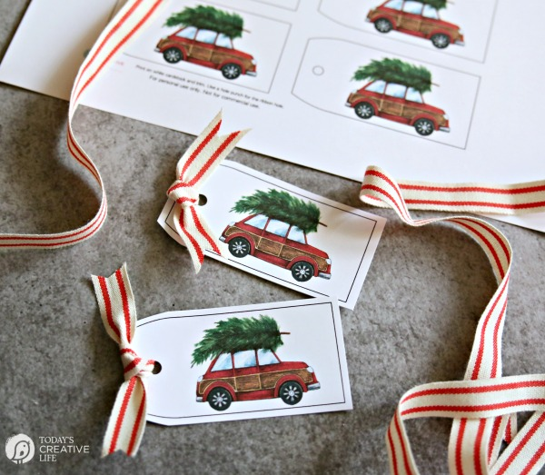 Free printable Christmas Gift Tags from Today's Creative Life