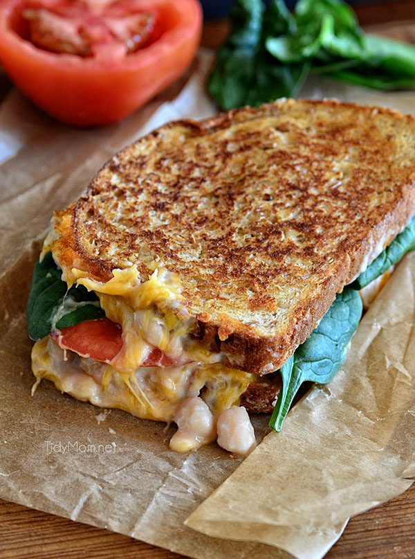 White Bean Cheddar Melt recipe at TidyMom.net