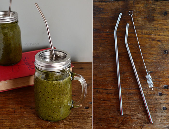 Stainless Steel Straws at TidyMom.net