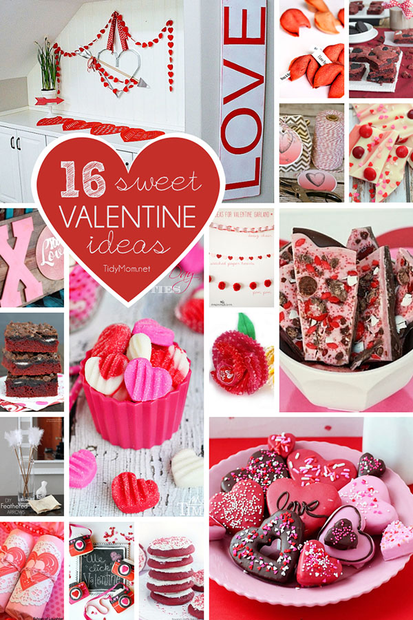 16 Sweet Ideas for Valentines Day at TidyMom.net
