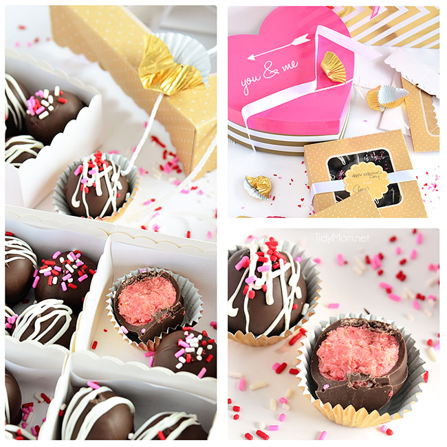 Chocolate Covered Strawberry Cake Balls