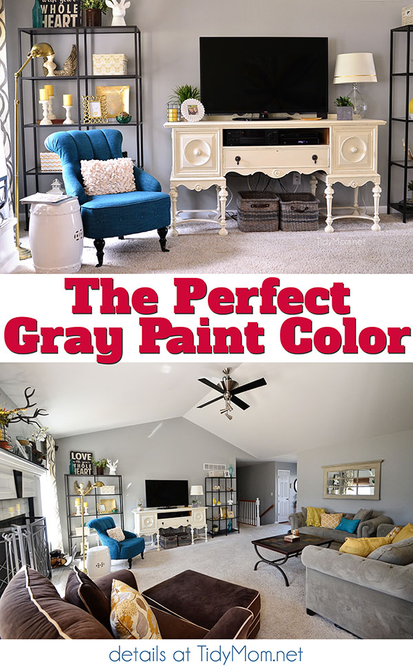 The Perfect Gray Paint Color from Benjamin Moore at TidyMom.net
