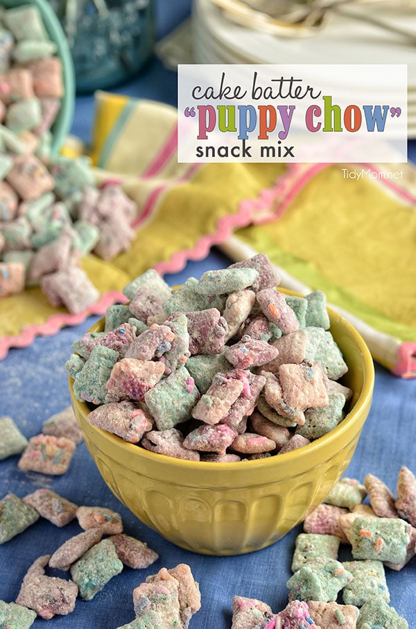 Puppy Chow Birthday Cake Recipe