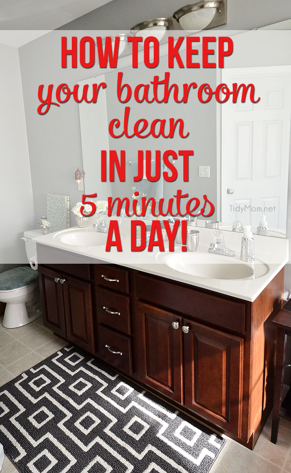 How to Keep Clean Bathroom at TidyMom.net