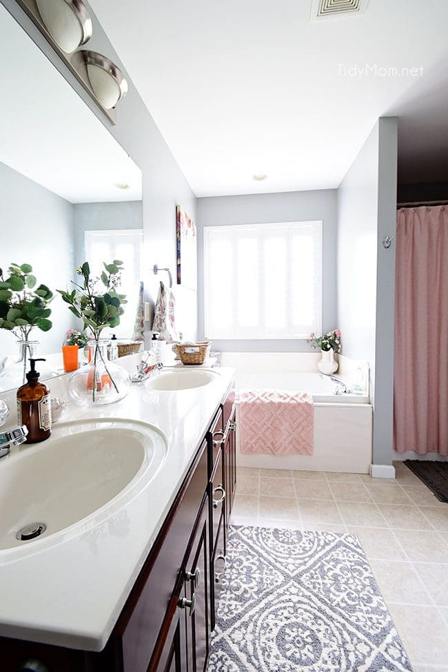 Cleaning your bathroom on a daily basis is an easy habit that should only take a few minutes Learn how to keep your bathroom clean in just 5 minutes a day with just 4 easy steps. Get all the cleaning details at TidyMom.net