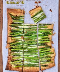 Store-bought puff pastry makes this simple, 3 ingredient Asparagus and Gruyere Tart look sophisticated enough for any dinner or brunch. Print tart recipe at TidyMom.net
