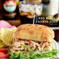 BBQ Ranch Chicken Salad Sandwich