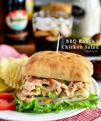 BBQ Ranch Chicken Salad recipe at TidyMom.net