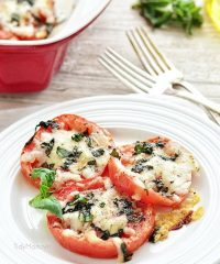 Cheesy Baked Tomatoes recipe at TidyMom.net