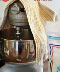 Tidy Kitchen Tip: Learn how to keep flour and powdered sugar from going all over your kitchen when using your electric mixer at TidyMom.net