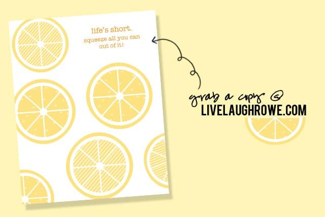 Lemon Printable from Live Laugh Rowe