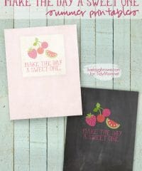 Make the Day a Sweet One Chalkboard FREE Summer Printables (by Live Laugh Rowe) at TidyMom.net
