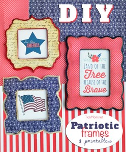 DIY Patriotic Frames + printables at TidyMom.net