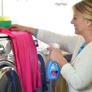 No more ironing for me! Just spray wrinkles away with Downy Wrinkle Releaser. Find out more at TidyMom.net #wondermoms