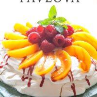 Peach Melba Pavlova Recipe