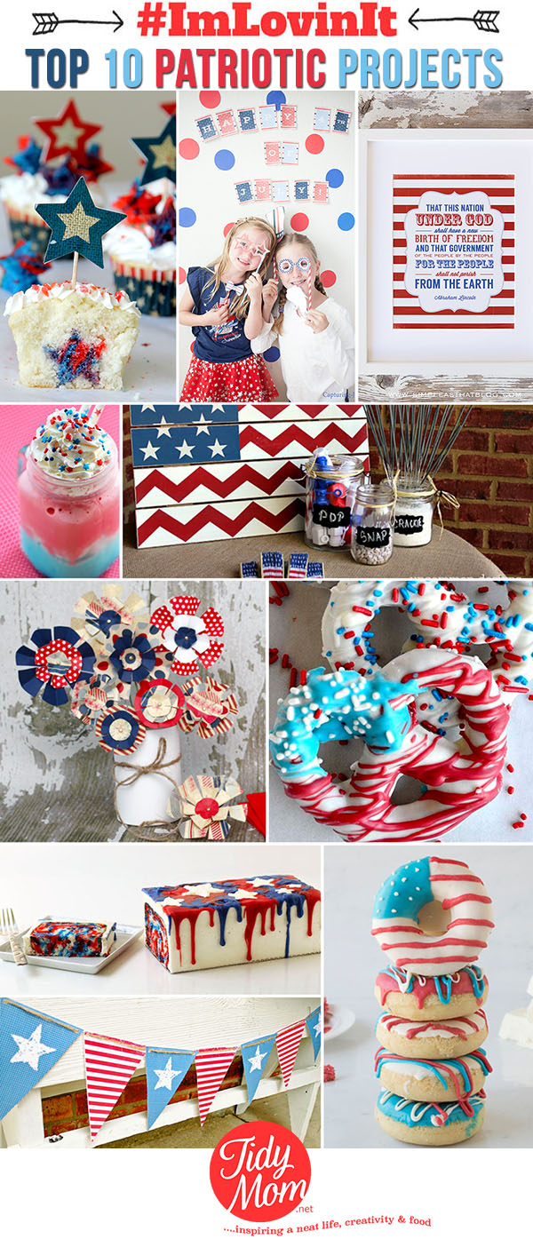 Top 10 Patriotic Projects, Memorial Day and Fourth of July ideas at TidyMom.net