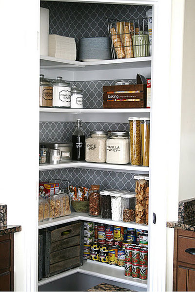Organized Kitchen Pantry at House of Smiths