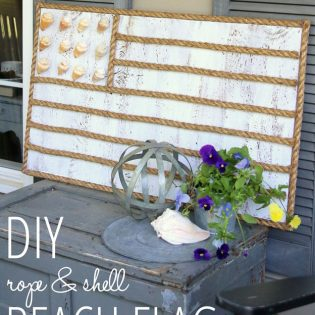 Bring a little bit of the beach right to your front porch or home. DIY Rope and Shell Beach Flag from FindingHomeOnline.com tutorial at TidyMom.net