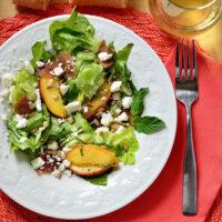 Feta, Peach & Prosciutto Salad