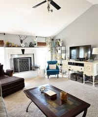 Family Room makeover at TidyMom.net #Techoration