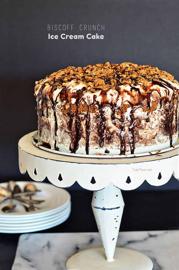 Biscoff Crunch Ice Cream Cake TidyMom
