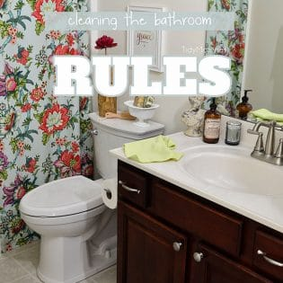 Cleaning the bathroom… It's a dirty job, but somebody has to do it. right?  A lot of messes can happen in the bathroom, follow these simple rules for getting a complete clean in the bathroom without spending hours cleaning up after everyone else. TidyMom.net