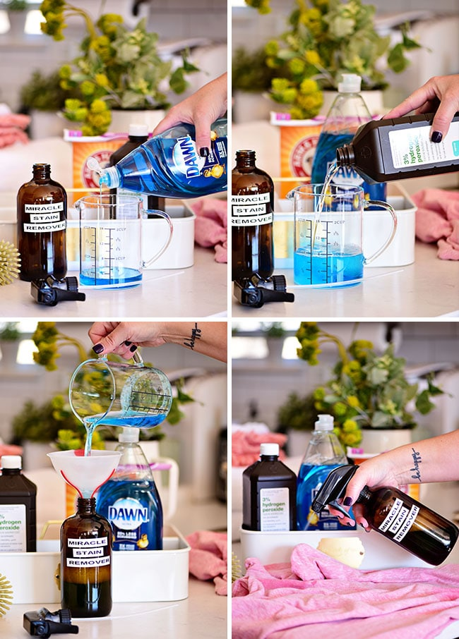 how to make a DIY homemade stain remover