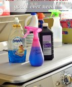 The ONLY stain remover you'll ever need! This miracle cleaner has worked on every stain from set in grease, to yellow arm pits, to chocolate and more! details at TidyMom.net
