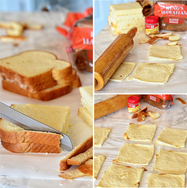 How to make French Toast Roll Ups .  Recipe at TidyMom.net