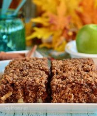 Apple and Brown Sugar Crumb Coffee Cake recipe at TidyMom.net