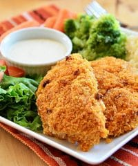 Crispy and Delicious! Oven Baked Buffalo Ranch Chicken Strips recipe at TidyMom.net