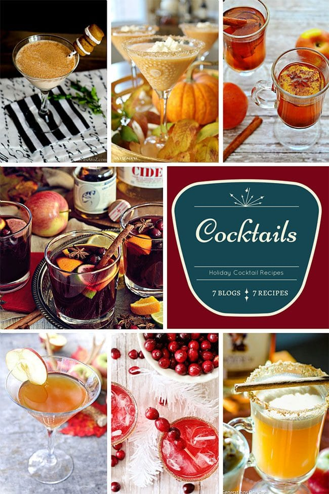 7 Cocktail Recipes for Holiday Entertaining. Get Easy Party Appetizers and Cocktails recipes at TidyMom.net