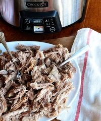 Delicious Pulled Pork in the Crock-Pot® Slow Cooker - recipe at TidyMom.net