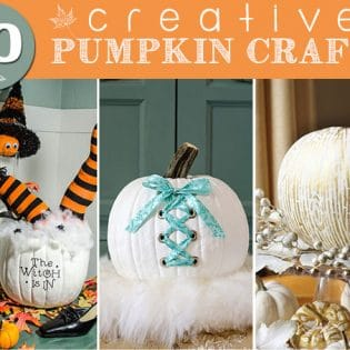 10 Creative Pumpkin Crafts featured at TidyMom.net