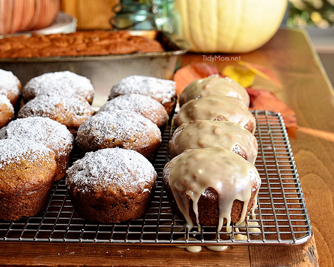 Get this classic pumpkin muffin recipe at TidyMom.net