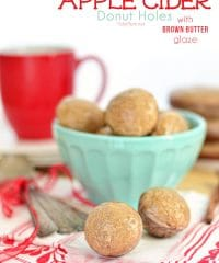 Apple Cider Donut Holes recipe at TidyMom.net