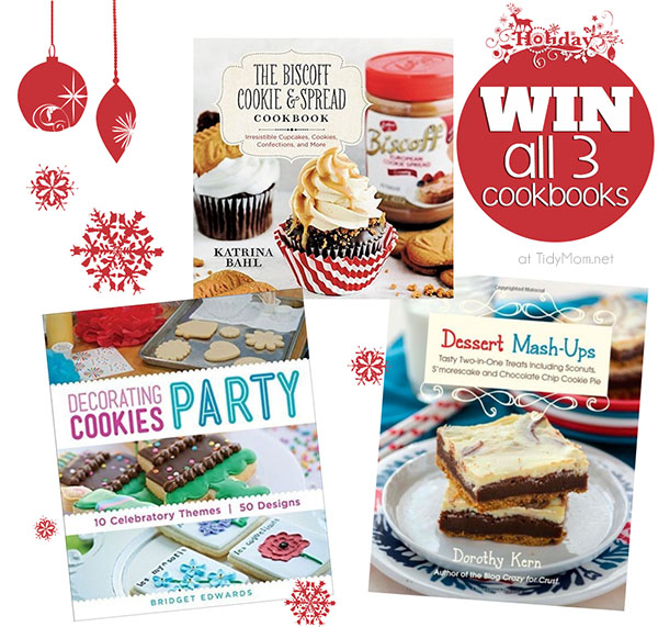 Win all 3 cookbooks!