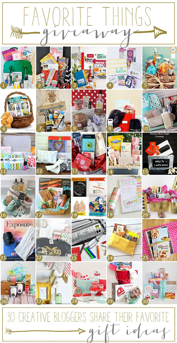 Favorite Things Blog Hop and Giveaways with 30 bloggers