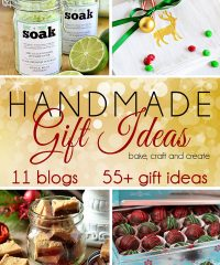 Handmade Holidays Gift Ideas Blog Hop. 11 blogs and over 55 gift ideas to craft, bake and create.