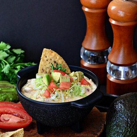 White Chili Bean Queso Dip Recipe