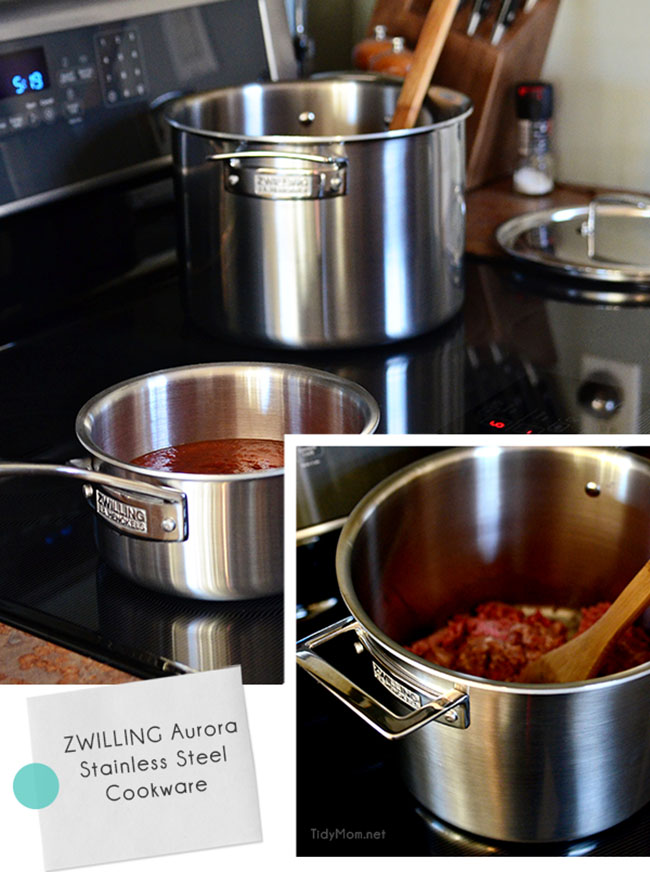 7 piece Zwilling Aurora Stainless Steel Cookware Set  at TidyMom.net