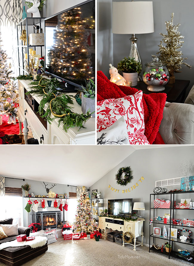 Christmas Holiday Home Tour TidyMom.net