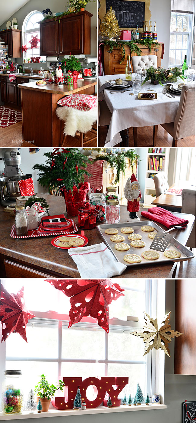 Christmas Holiday Kitchen at TidyMom.net