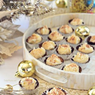 Easy Eggnog Truffle Cups recipe at TidyMom.net