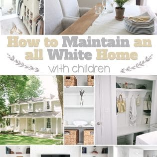Simple storage solutions for maintaining an ALL WHITE HOME with children from Julie of Coordinately Yours at TidyMom.net