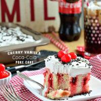 Cherry Vanilla Coke Poke Cake